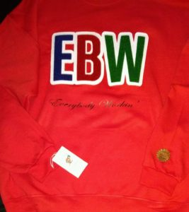 EBW LOGO EMBROIDERED CHENILLE PATCH SWEATER