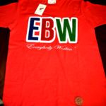 EBW Embroidered Logo Chenille Tshirt w/ Embossed Leather Patch